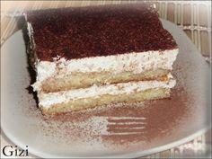 Kávéhabos piskóta, avagy hamis tiramisu - Gizi-receptjei. Várok mindenkit.: sütés nélküli sütemény