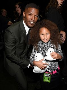 Jamie Foxx and His Daughter Annalise at the AMAs