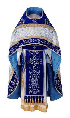 Blue priest vestment, $750.00, Catalog of St. Elisabeth Convent. About workshop…