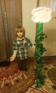 Homemade Jack and the beanstalk costume for folklore fairytale day at school!