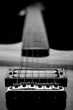 Guitar Strings Black and White  by EZieglerPhotography on Etsy