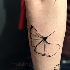 #tattoo #tatouage #taratatou #ginko #arm #feuilles #vegetal #paris #