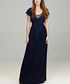 Take a look at this Midnight Blue Butterfly Jewels Maxi Dress by Sugarhill Boutique on #zulily today!