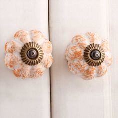 Online handmade sprinked orange ceramic knob for your home furniture. Ideal for wardrobes, dressers, cabinets, doors, and almirah. For more unique collections visit our website. Ceramic Furniture, Furniture Knobs, Kitchen Furniture, Home Furniture, Ceramic Door Knobs, Bolts And Washers, Cupboard Drawers, Kitchen Hardware, Ceramics