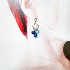 [マスクチャーム]ガラスビーズ*チェコビーズ*ブルー*マスクアクセサリー*チャーム | ハンドメイドマーケット minne Minne, Drop Earrings, Jewelry, Fashion, Moda, Jewlery, Jewerly, Fashion Styles, Schmuck