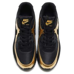 on sale 43eee 7b754 Nike Air Max 90 Men Black Gold