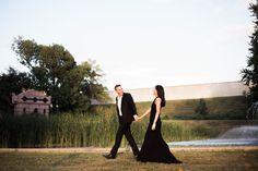 Elegant St. Louis Engagement | Compton Hill Water Tower | Sunset Engagement | couple goals | Cute couple | Little Black Dress | St. Louis, Mo | St. Louis engagement | St. Louis Wedding Photographer | St. Louis Wedding Venue