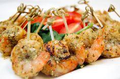 Pesto Grilled Shrimp Skewers