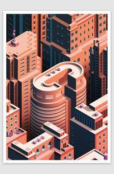 City Life - Isometric Cityscape by Coen Pohl
