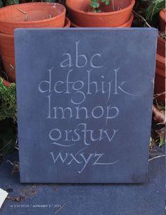 Jon Bush. Alphabet 2 slate 2014
