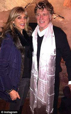 Marla Maples and Robert Redford...