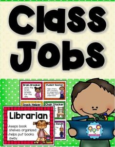 Keep track of your classroom jobs and responsibilities with my Classroom Jobs set. There are 39 different jobs to pick from. There are several options for display and organization. Classroom Birthday, 5th Grade Classroom, Classroom Jobs, Kindergarten Classroom, Classroom Management, Classroom Helpers, Class Jobs, Jobs In Art, Teacher Organization