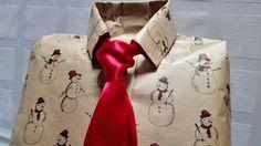 Как Упаковать Оформить Любой Подарок Мужчине Мужу Сыну в виде Рубашки Пр...