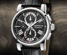 Montblanc - Star 4810 Chronograph, ref.102377 - Self-winding, cal.MB4810/501, 4Hz, 42hr p.r., chronograph, date, day - 44mm, steel case, black guilloche dial ~3k