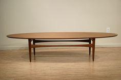 Danish Modern Teak Coffee Table.