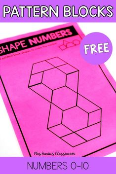 FREE and simple pattern block number fine motor activities, for preschoolers, prek, kindergarten and reception students. Use these FREE printables in math centers or for morning work tubs. Focus on numbers 0-10, easy to prep and can be used all year long! #finemotorskills #numberactivities
