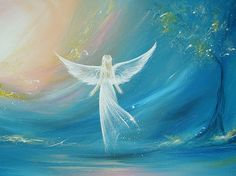 Limited angel art poster believe in your dreams   by HenriettesART