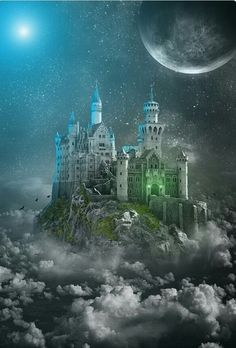 A Mythical Kingdom Fantasy landscape Fantasy castle Fantasy city