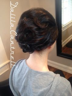 Bridal upstyle by stylist Dalila Cantrell