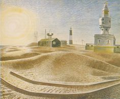 Dungeness by Eric Ravilious 1938 (Private Collection). Kent.