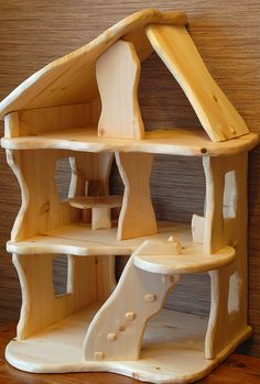 Waldorf style dollhouse Wood Furniture, Furniture Ideas, Steiner Waldorf, Projects, Inspiration, Home Decor, Style, Log Homes, Timber Furniture