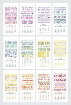 2014 Irish Blessings Calendar by Little by littlethingsstudio, $18.00