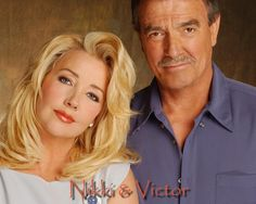 Nikki & Victor (Eric Braeden and Melody Thomas Scott) from The Young & The Restless soap opera. Top Tv Shows, Movies And Tv Shows, Eric Braeden, Roberta Flack, Number One Song, Singular, Soap Stars, Thing 1, Best Soap