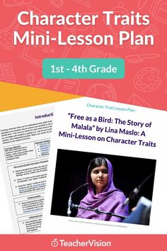 "A downloadable engaging character traits lesson featuring a read-aloud of Lina Maslo's ""Free as a Bird: The Story of Malala"" picture book! The teacher will model how to identify character traits in characters by their actions, words, feelings, and thoughts. This Mini Character Traits Lesson is ideal for 1st-4th graders! Teaching Character, Character Trait, Reading Resources, Reading Skills, Social Emotional Learning, Teaching Strategies, Read Aloud, Learn To Read, Reading Comprehension"