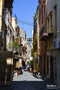Rue de La Canée (Khaniá) - Crète - Grèce Places Ive Been, Places To Go, Empire Ottoman, Bucket, Street View, Around The Worlds, Check, Travel, Greece