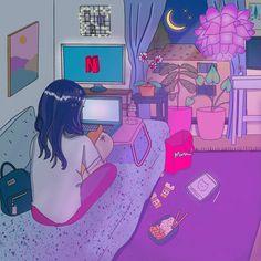 Aesthetic room anime