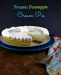 Frozen Pineapple Cream Pie