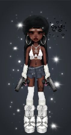 Ball Dresses, Nice Dresses, Black Girl Cartoon, Virtual Fashion, Cybergoth, Gyaru, Cute Icons, Teen Fashion Outfits, Fashion Killa