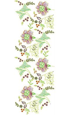 Garment Curtain Embroidery Design
