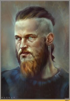 Ragnar Lothbrok,викинги,сериалы,арт,красивые картинки,Danar Worya