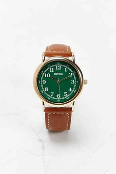 Breda 1682 Classic Green Face Watch