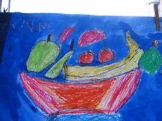 * Fruitschaal tekenen wasco en ecoline Wordpress, A Blessing, Restaurant, Creative, Artwork, Projects, Kids, Painting, Food