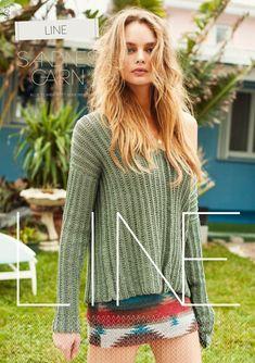 1603 Line - NYT opskriftshæfte sandnes Bell Sleeves, Bell Sleeve Top, Linnet, Miami Beach, Dusk, Knitting, Model, Tops, Fashion