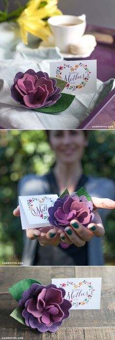 #DIYMothersDay #Feltflower #Tutorial at www.LiaGriffith.com