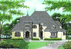 Country French House Plan French Provincial House Plan