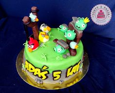 Torty z Pasją: Tort Angry Birds, cake, fondant.