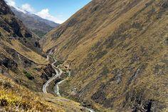 Zigzag Tracks Are the Only Way Nariz del Diablo (Devil's Nose) Train Can Handle the Steep Andean Grades Near Alausi, Ecuador