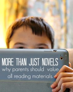 Your child doesn't enjoy reading novels? Here's a long list of other things worth reading.