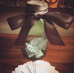 If New Year's resolutions aren't your thing, then try making a Memory Jar. Take a few moments each day to jot down thoughts, memories, quotes, or funny situations that occur on little slips of paper. Make sure to include the date and names of people you were with. On January 1st, 2016, open up the jar and read your memories from the past 365 days!
