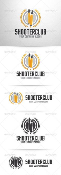 Shooter Club Logo   -  EPS Template • Only available here! ➝ https://graphicriver.net/item/shooter-club-logo-template/7573493?ref=pxcr