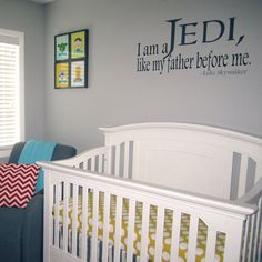 A vinyl wall decal with Luke Skywalkers famous line for any and all Star Wars loving fan! Would look amazing in any bedroom, game room,