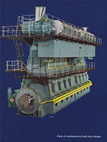 TECNOLOGIA MARITIMA: HISTORIA DE LOS MOTORES MARINOS SULZER Boat Engine, Steam Engine, Beam Structure, Marine Engineering, Oil Tanker, Merchant Navy, Remo, Combustion Engine, Landing Gear