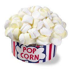 "Cute ""popcorn"" cupcakes using marshmallows"