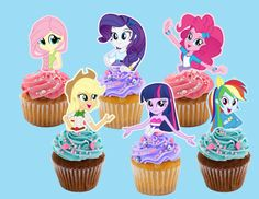 My Little Pony Equestria Girls Cupcake Toppers by AvaScharlizeShop