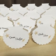 【結婚式小物】手作りしたい可愛い席札デザイン | marry[マリー]