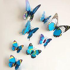 12 Pieces 3D Butterfly Stickrs Fashion Design DIY Wall Decoration House Decoration Babyroom Decoration-BLUE ZooYoo http://www.amazon.co.uk/dp/B00Q2NEPRI/ref=cm_sw_r_pi_dp_pEbOub0K12XGY